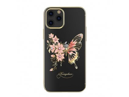 eng pm Kingxbar Butterfly Series shiny case decorated with original Swarovski crystals iPhone 12 Pro iPhone 12 golden 63180 1