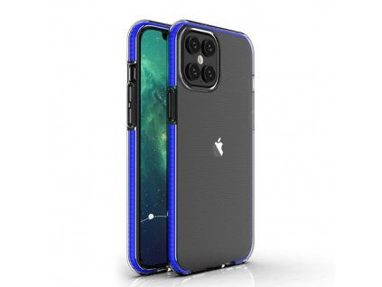 eng pm Spring Case clear TPU gel protective cover with colorful frame for iPhone 12 Pro Max dark blue 63331 1