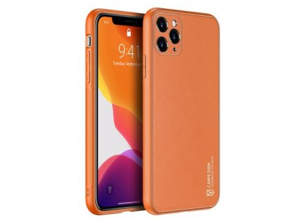 eng pm Dux Ducis Yolo elegant case made of soft TPU and PU leather for iPhone 11 Pro orange 63371 1