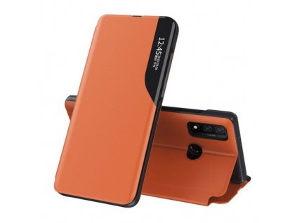 eng pm Eco Leather View Case elegant bookcase type case with kickstand for Huawei P40 Lite orange 63644 1