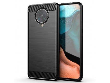 pol pm Carbon Case elastyczne etui pokrowiec Xiaomi Redmi K30 Pro Poco F2 Pro czarny 61086 1