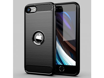eng pl Carbon Case Flexible Cover TPU Case for iPhone SE 2020 black 60291 12