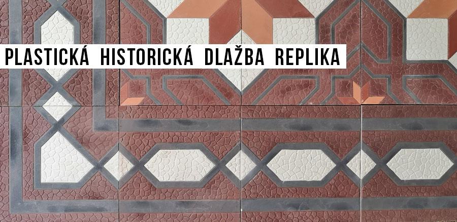 cementová historická reliéfní dlažba