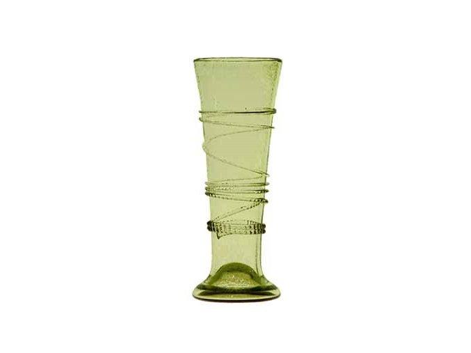 číše na víno z lesního skla