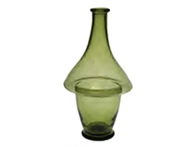 láhev ze zeleného skla