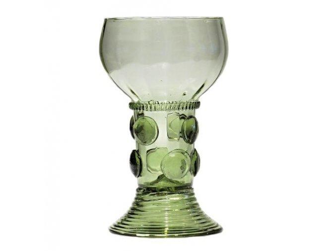 sklenice roemer s plochými kameny
