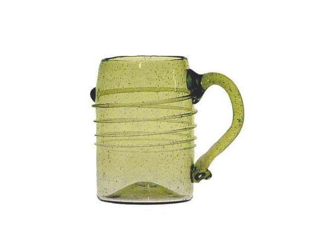 třetinka na pivo ze zeleného skla