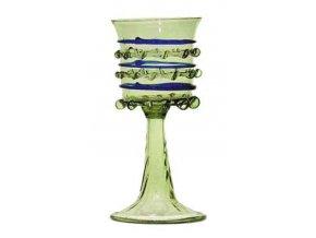 pohárová sklenice z barevnými žebry