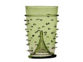 zelené sklo Nuppenbecher