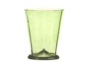 optický dekor sklenice z lesního skla