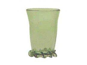Dekorativní číška ze zeleného skla