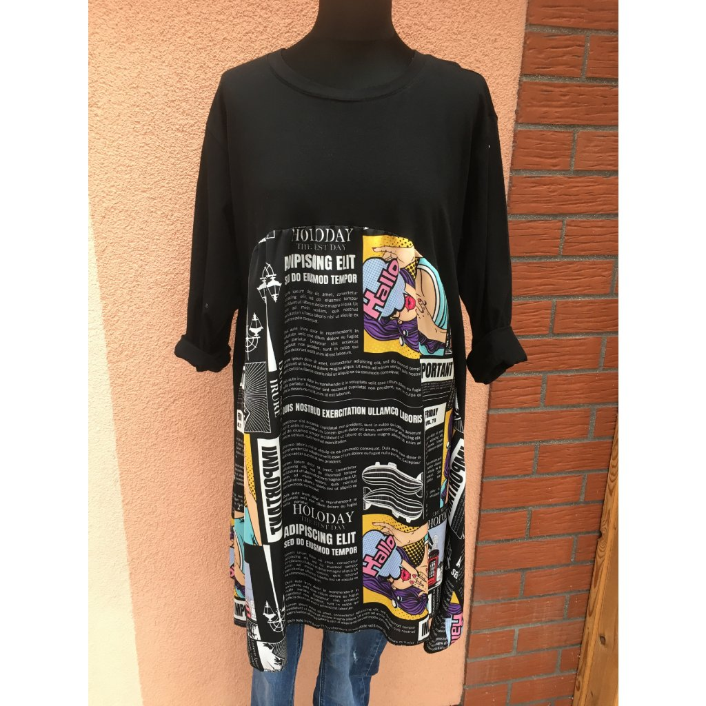 Šaty bavlněné barevné