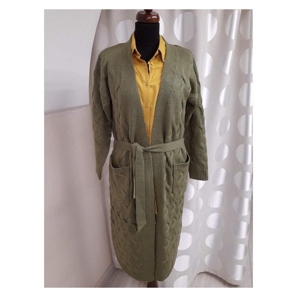 Dámský podzimní kabátkový svetr