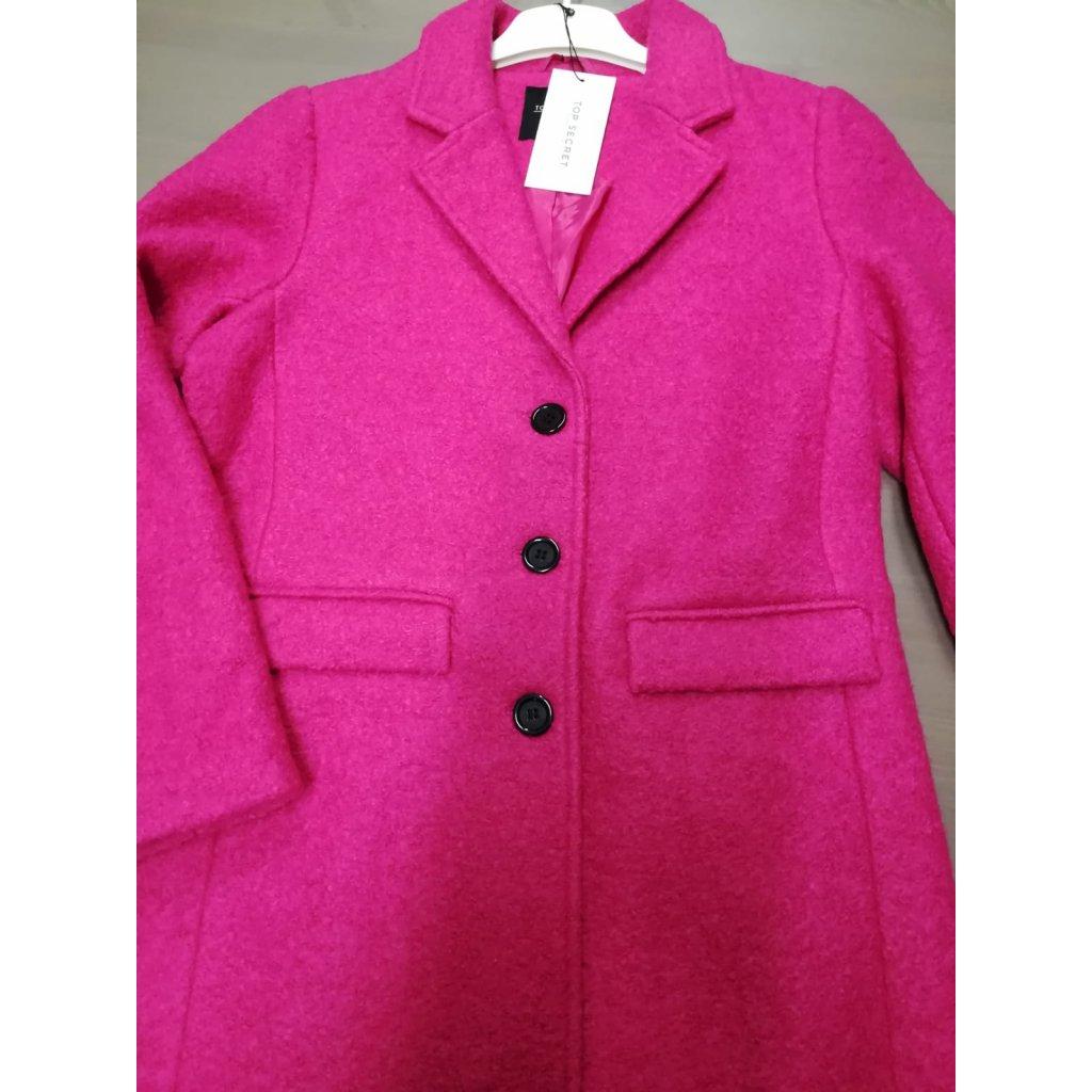 Růžový kabát s podšívkou