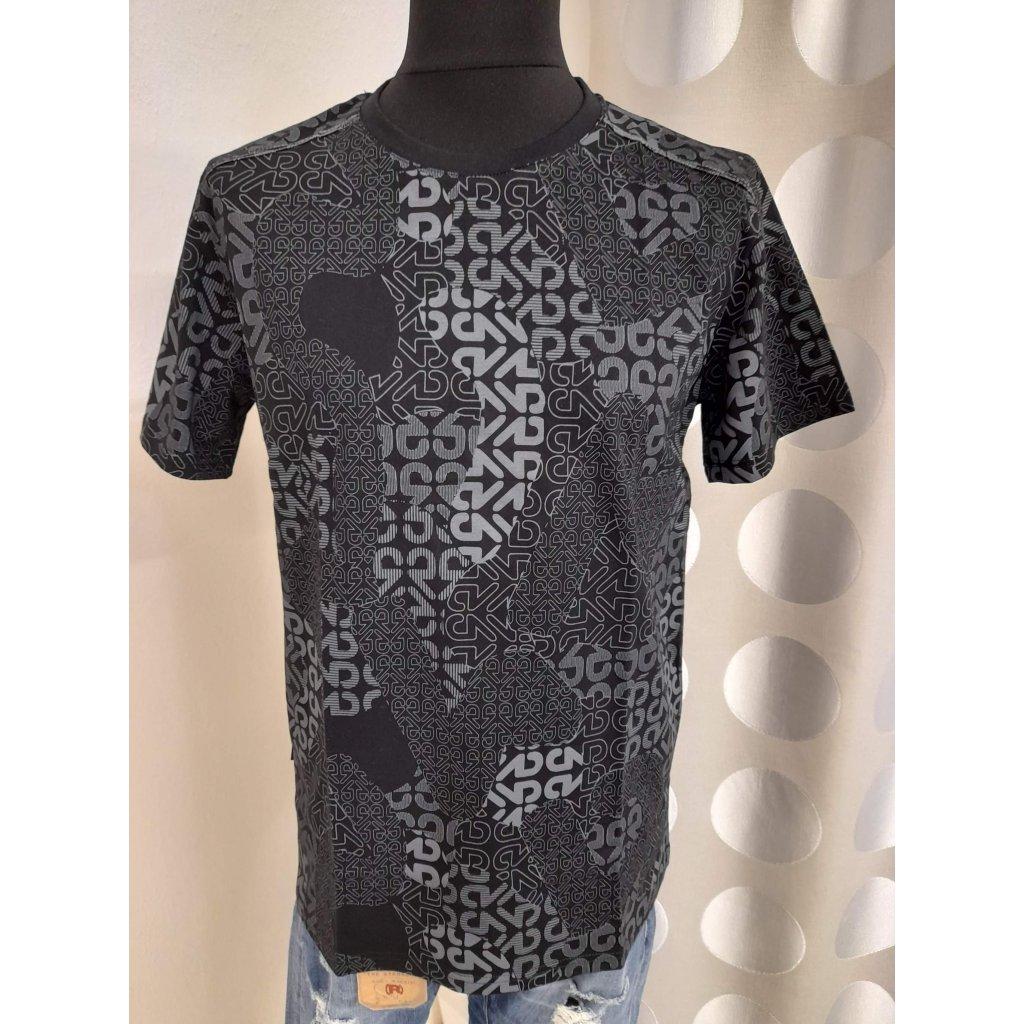 Pánské triičko černo-šedé