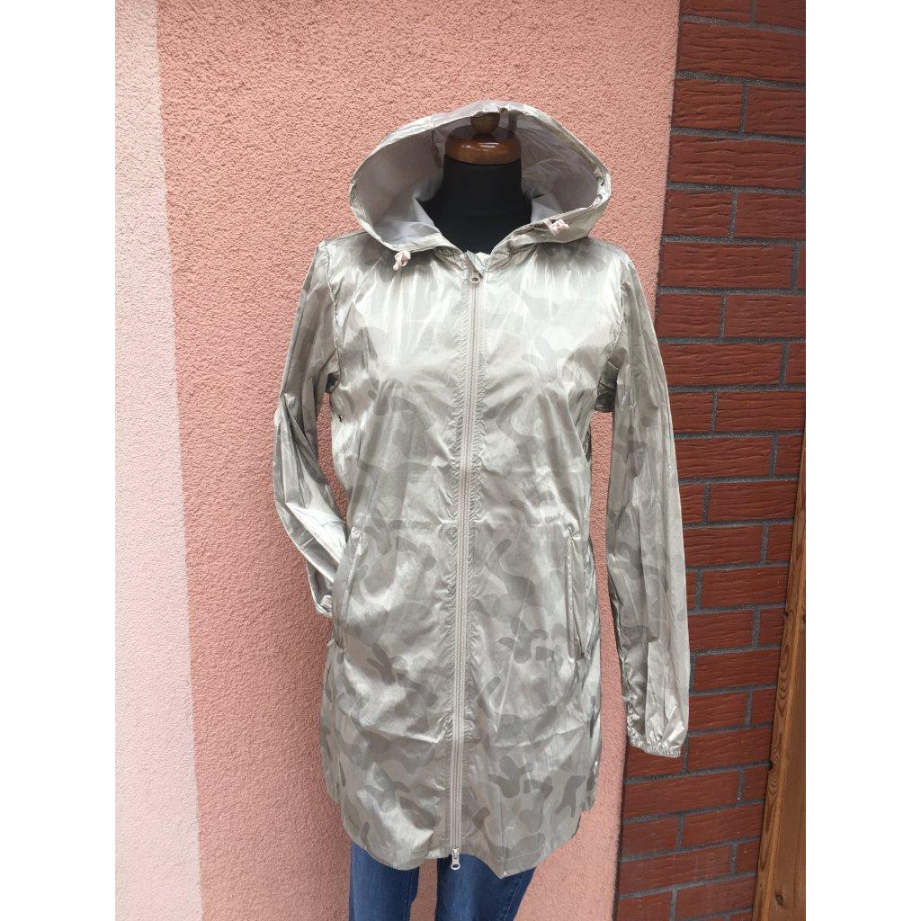 Jarní bunda zlato-stříbrná