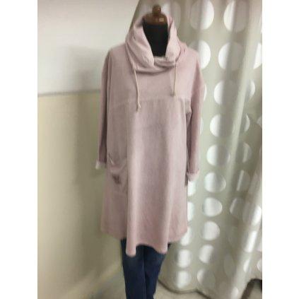 Tunikové šaty - mikinové