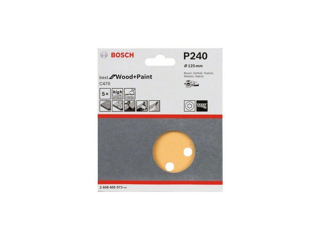 Bosch brusný papír 2608605073 - 5 ks