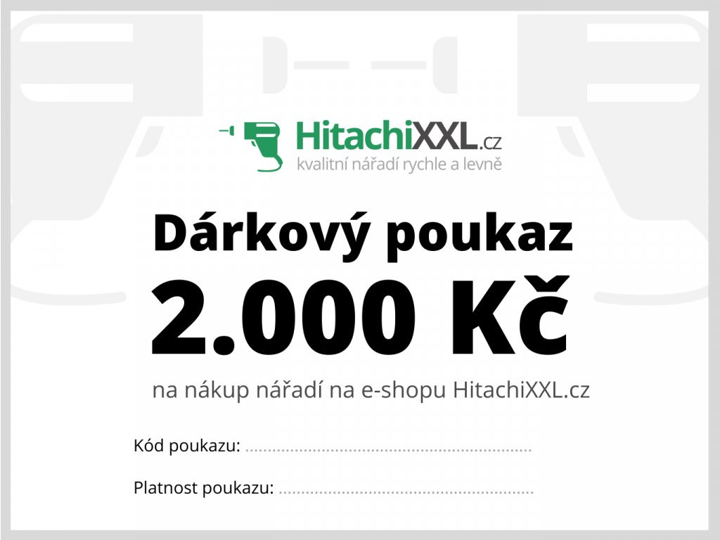 Dárkový poukaz na nářadí 2.000 Kč