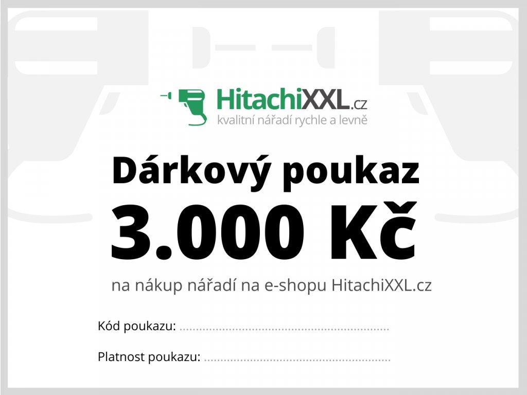 Dárkový poukaz na nářadí 3.000 Kč