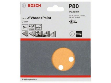 Bosch brusný papír 2608605069 - 5 ks