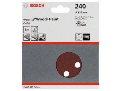 Bosch brusný papír 2608605645 - 5 ks