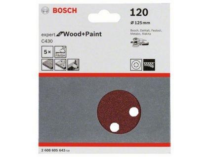 Bosch brusný papír 2608605643 - 5 ks