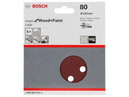 Bosch brusný papír 2608605642 - 5 ks