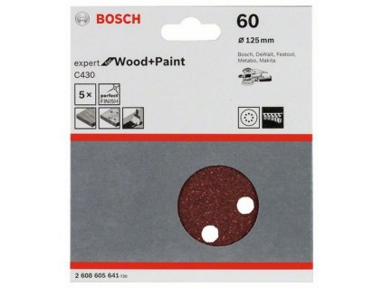 Bosch brusný papír 2608605641 - 5 ks