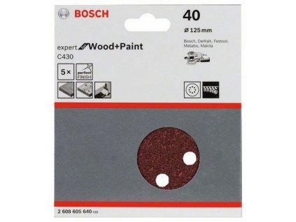 Bosch brusný papír 2608605640 - 5 ks