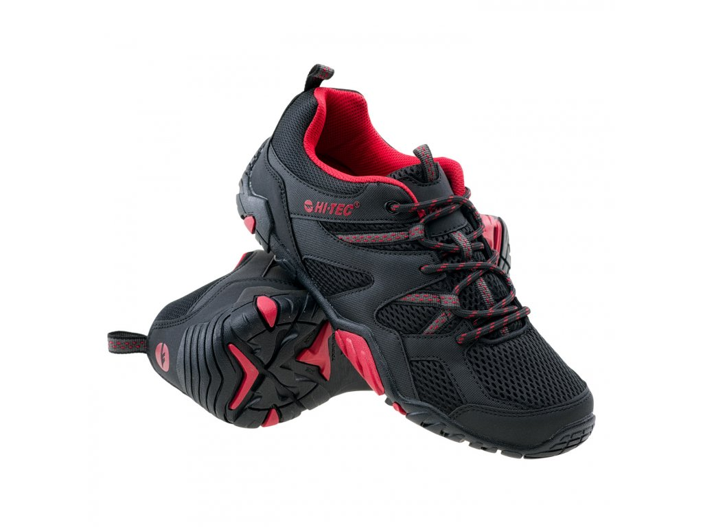 hi tec rengos panska sportovni obuv cerno cervena obe