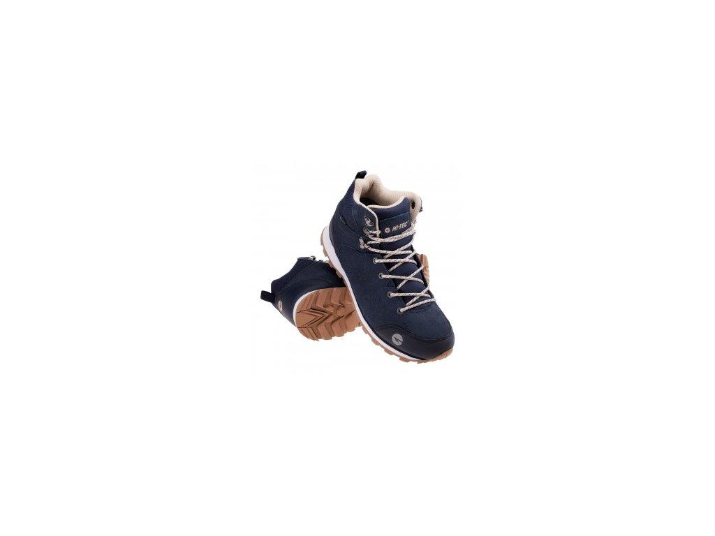 hi tec howerla mid wp v pasnek trekove boty modre vibram ortholite5