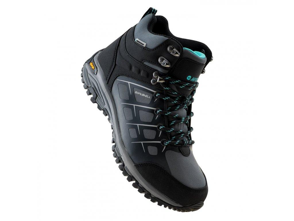hi tec masami mid wp wo softshell obuv boty pohorky damske outdoor trekking cerna