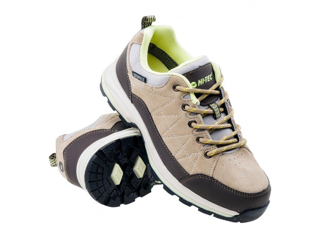 hi tec batian low wp wos damske trekove boty svetle hnede (5)