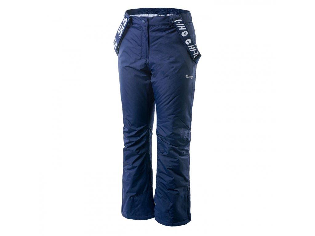 hi tec lady darin damske lyzarske kalhoty ksandy zimni zateplene modre sjezdovky lyze