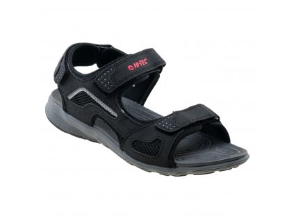 hi tec lucen sandaly sandale panske cerne paskove volny cas chuze mesto prochazky