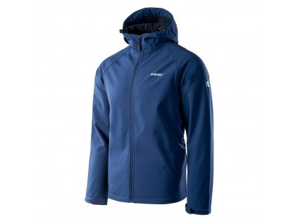 hi tec neti panska softshellova bunda s kapuci modra vodni sloupec 8000