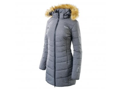 hi tec lady gala damsky zimni kabat s kapuci a koziskem sedy
