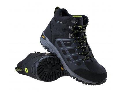hi tec masami mid wp softshell obuv boty pohorky panske outdoor trekking cerna