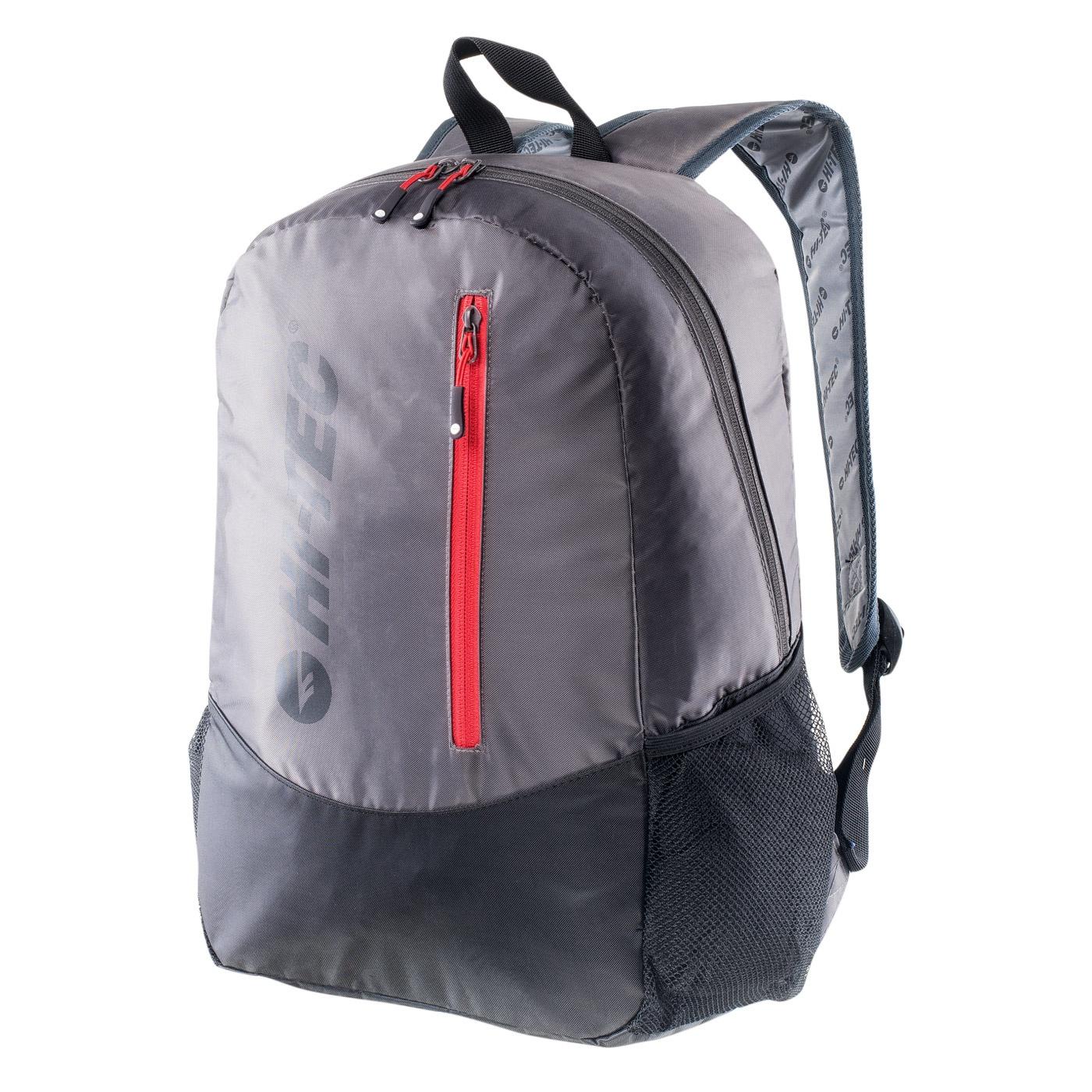 HI-TEC Pinback - batoh Barva: Tmavě šedá (Nine Iron/Black/High Risk Red)
