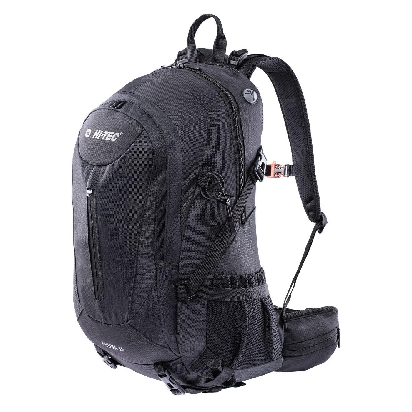 HI-TEC Aruba 35L - expediční turistický batoh (černý) Barva: Černá (Black)