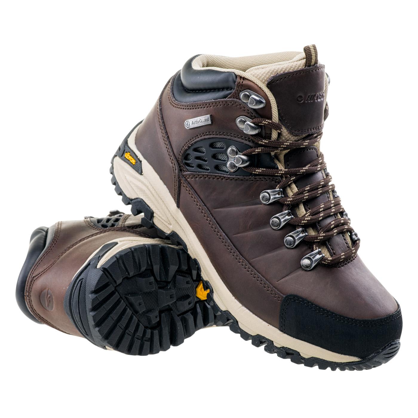 HI-TEC Lotse Mid WP Wo's - dámské turistické boty Barva: Hnědá-černá, Velikost: 36