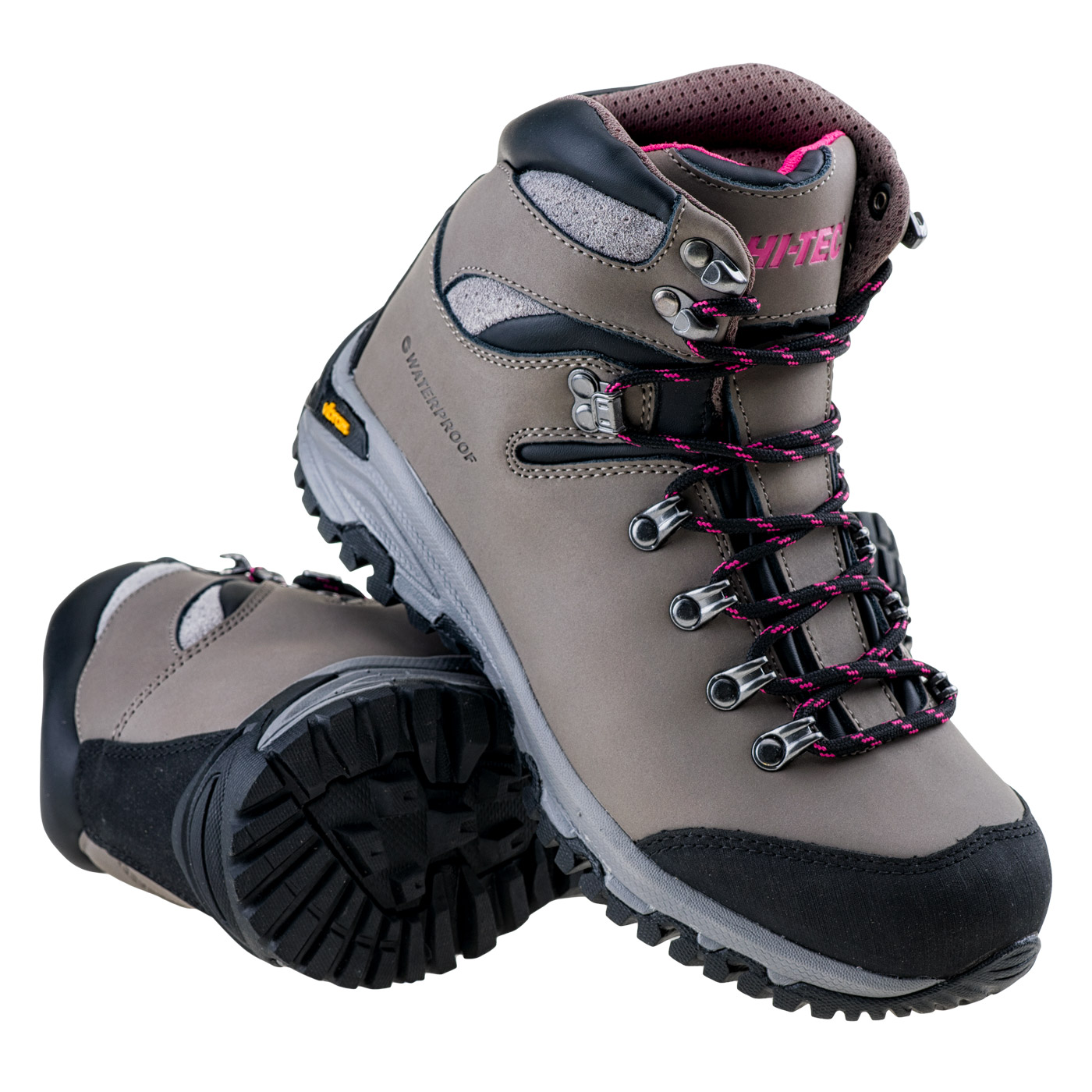 HI-TEC Sajama Mid WP Wo's - dámské turistické boty Barva: Šedá-černá, Velikost: 36