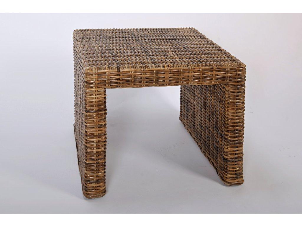 Ratanový stůl BRUNOPANDORA 40x46 sarang
