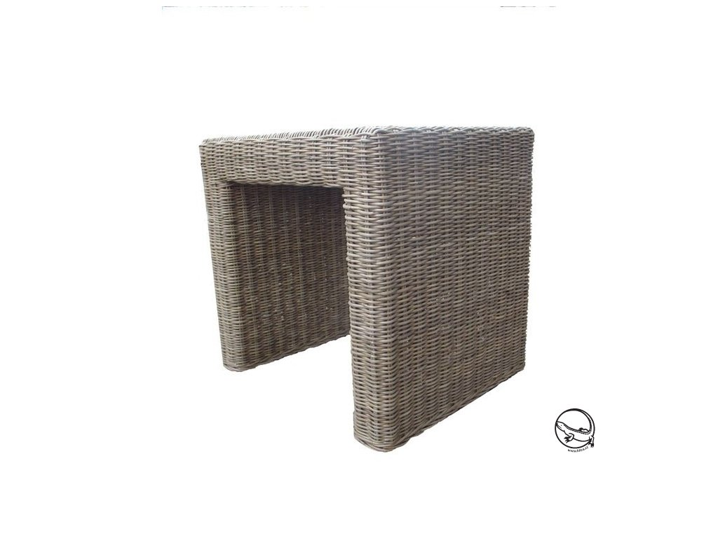 Ratanový stůl BRUNO/PANDORA  40x46 grey slimit