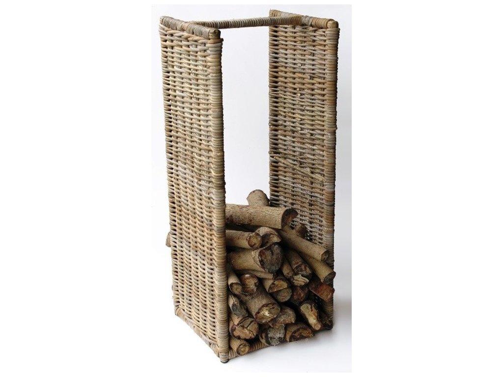 Ratanový stojan na dřevo vysoký 100 cm