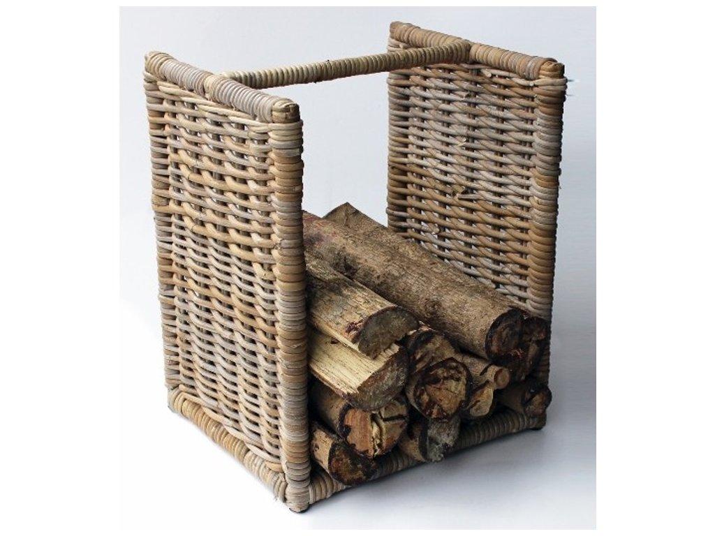 Ratanový stojan na dřevo nízký 50 cm