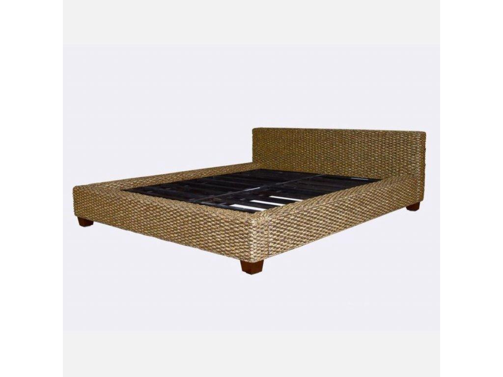 Manželská postel DIMA 160 hyacint natur kepang