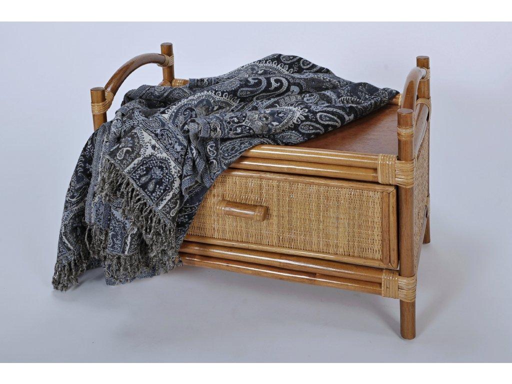 Ratanová sedačka k věšákové stěně dh (1)