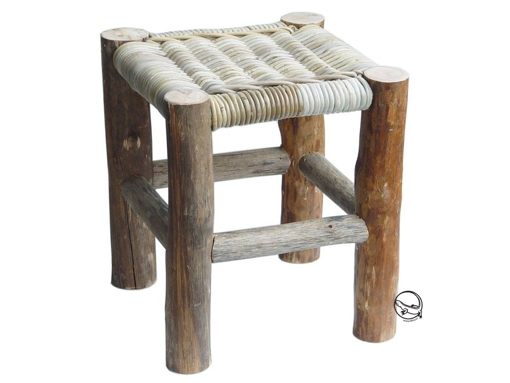 Ratanová sedačka DOLKEN kubu grey